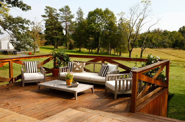 Garden deck with furniture