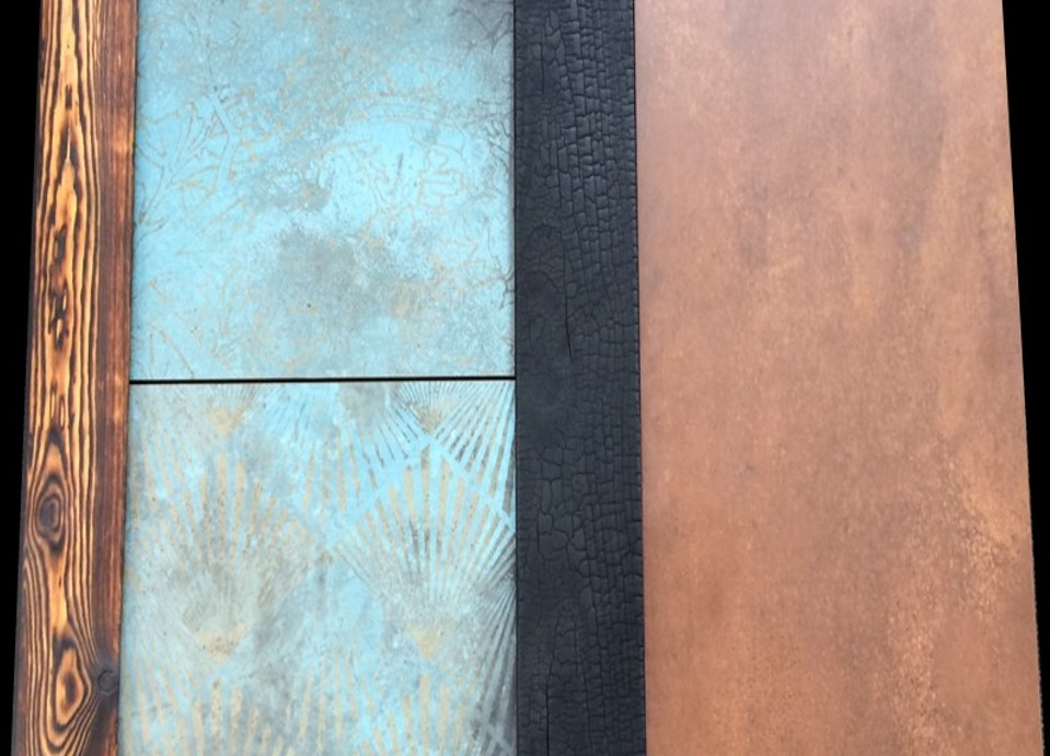 Burnt Timber and Corton Steel Material Combinations