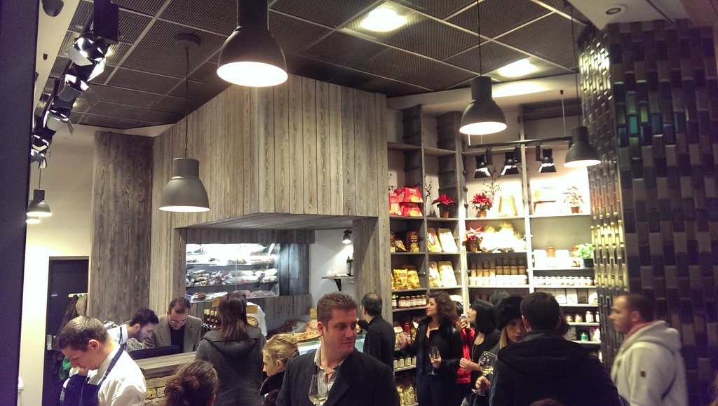 Italian farmers shop with Shou Sugi Ban cladding