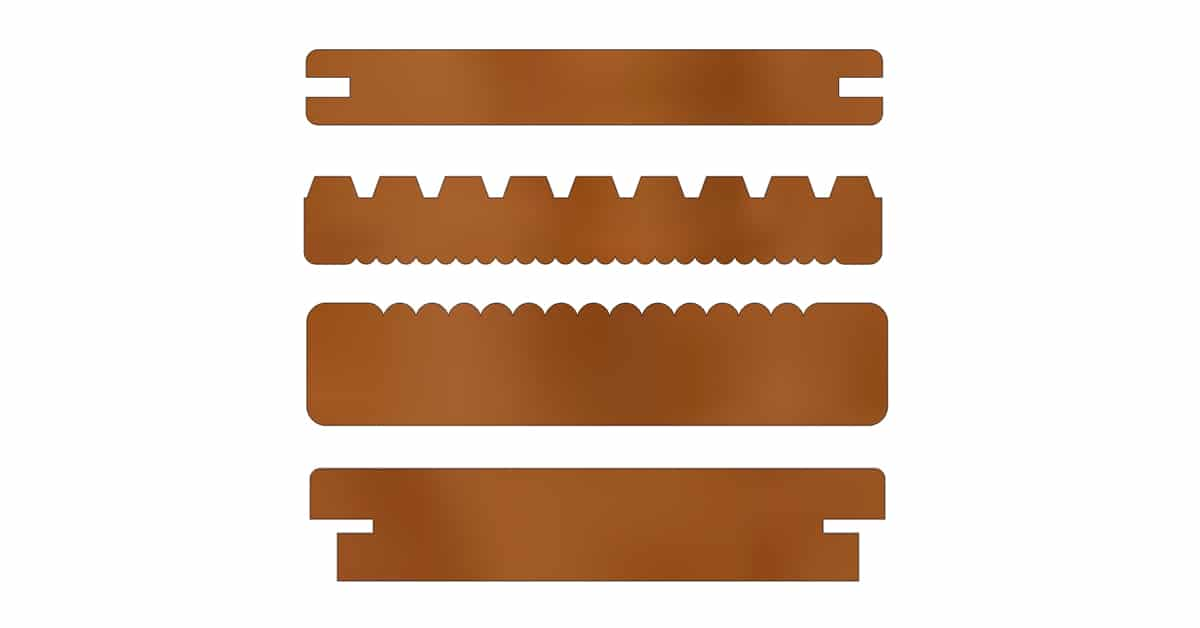Various decking profiles