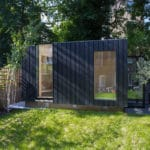 Shous Sugi Ban cladding on a garden space