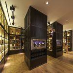 Contemporary wine cellar with Shou Sugi Ban cladding