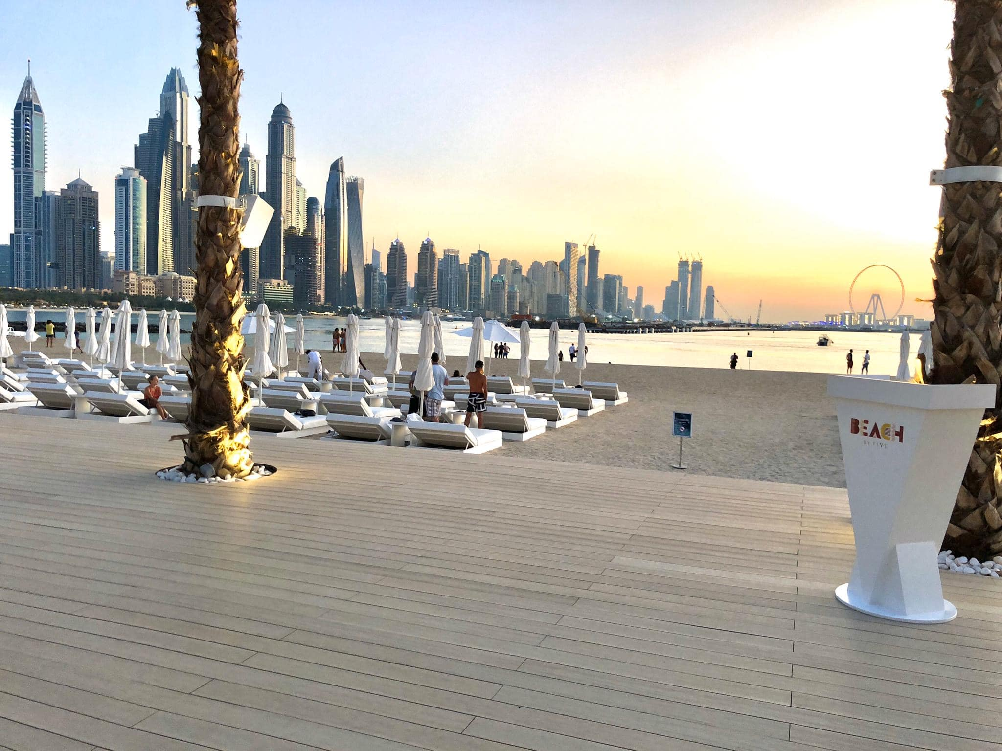 composite decking commercially installed on beach front