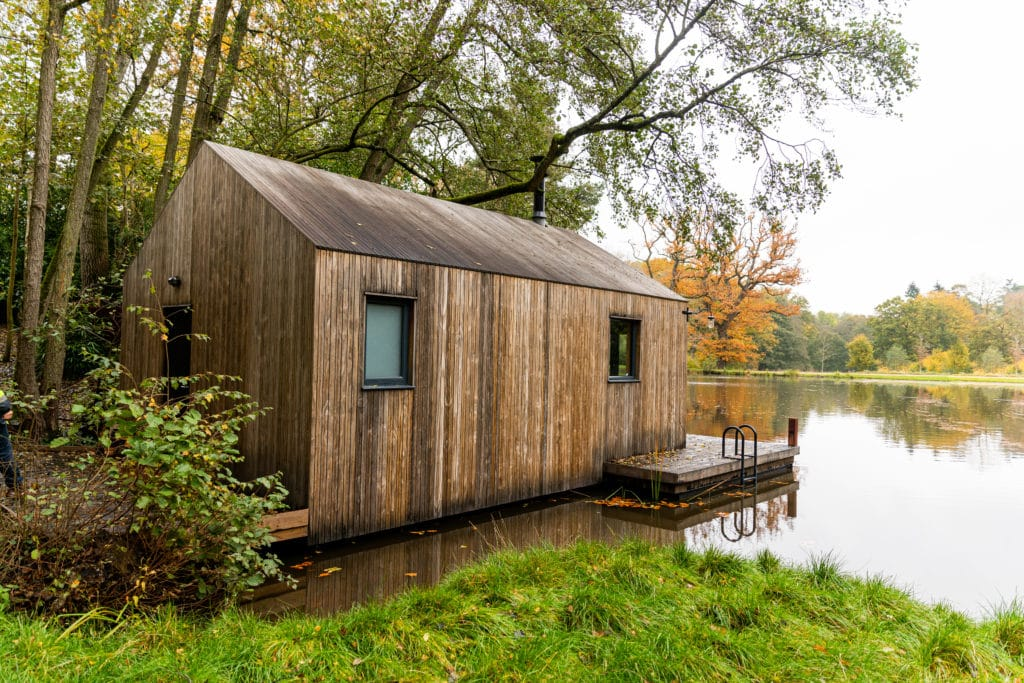 kebony timber clad luxury bespoke boat house