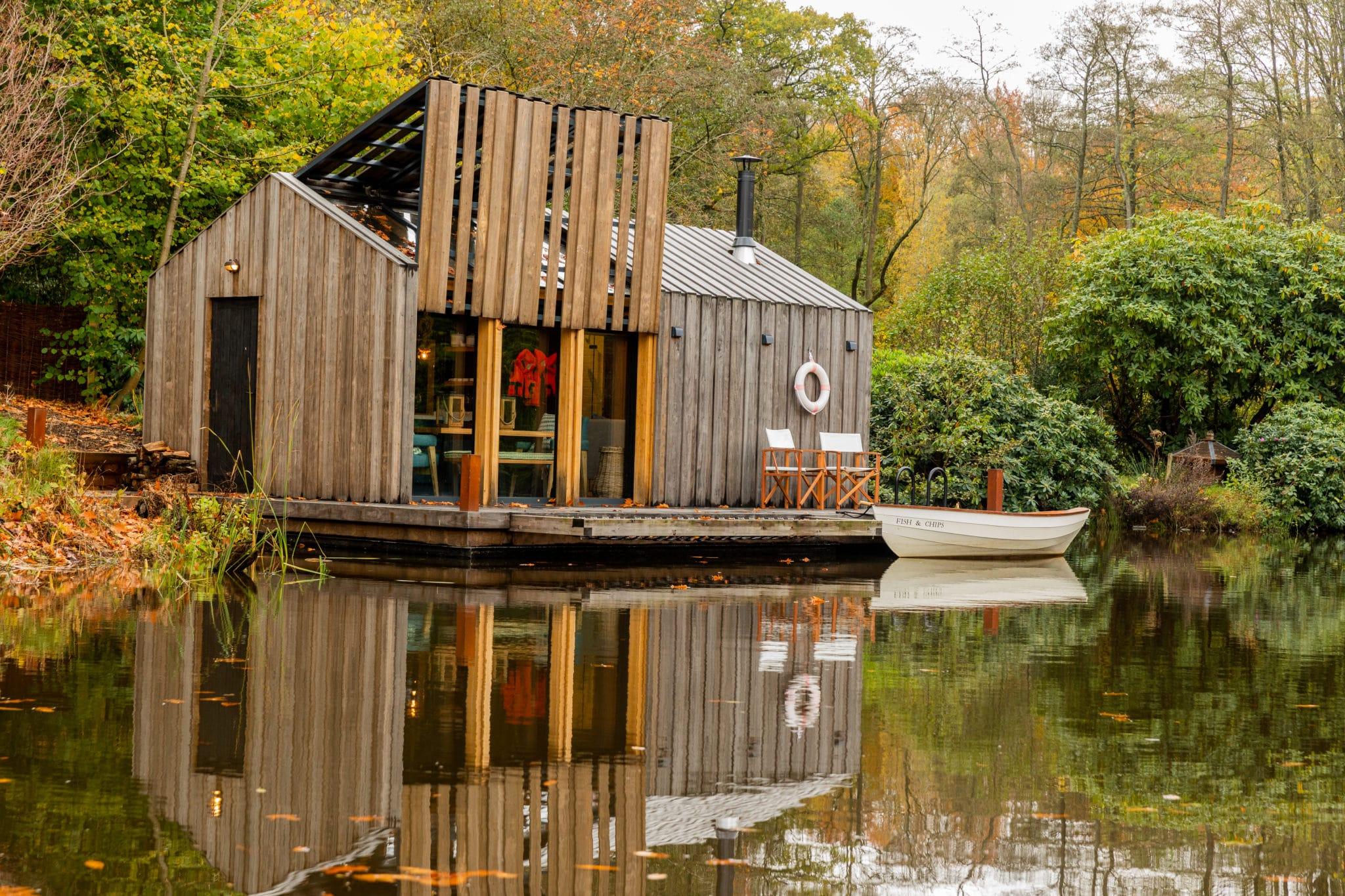 kebony clad bespoke boat house