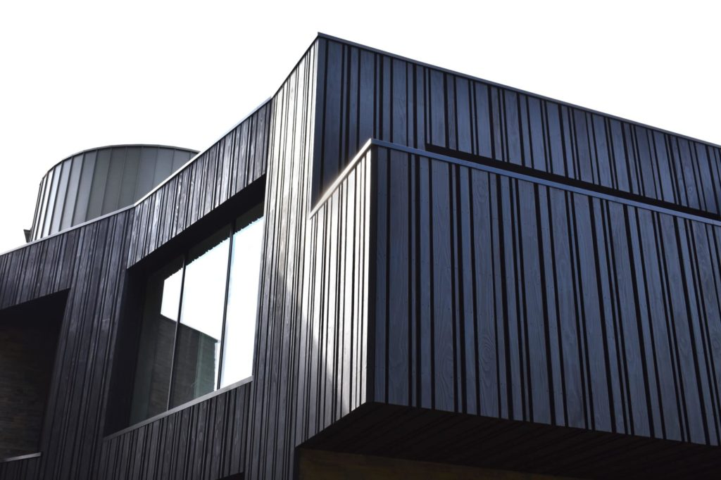 Charred Accoya Cladding Black