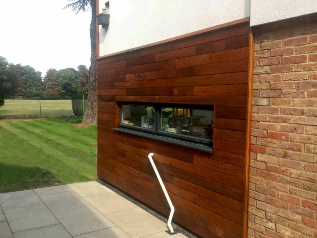 ipe hardwood cladding installation