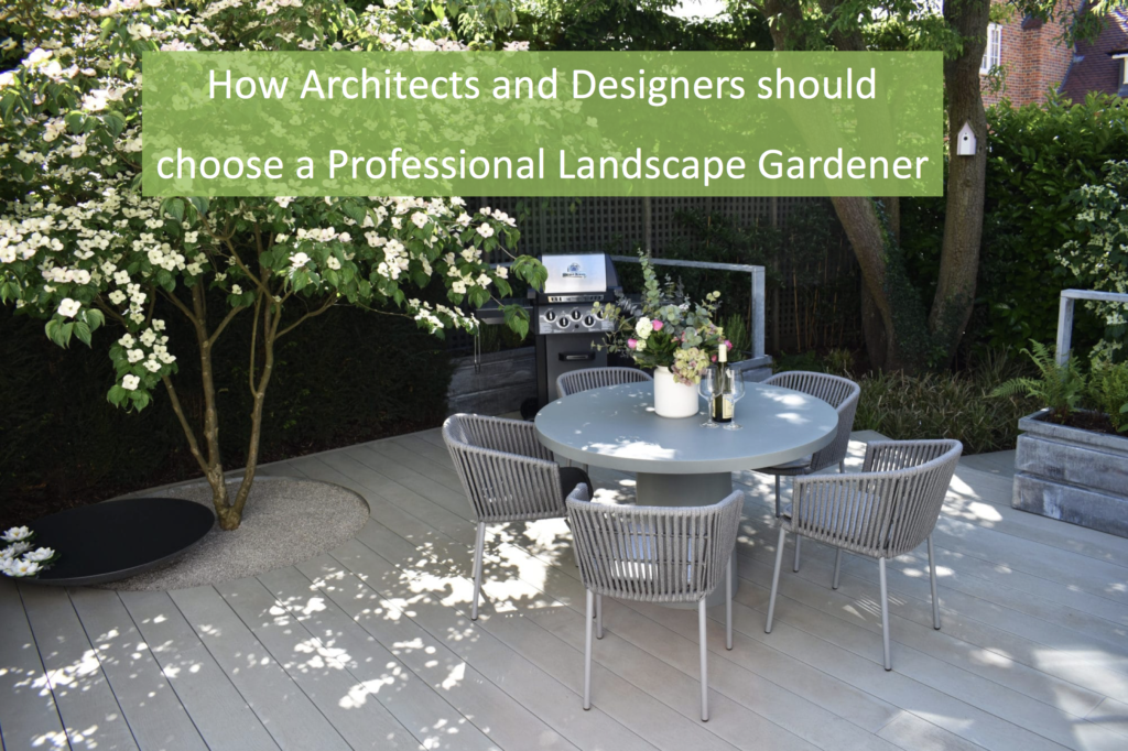how co architects and designers choose a professional landscaper