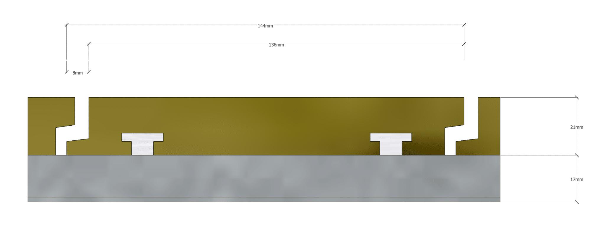 Exterpark Magnet Decking Profile