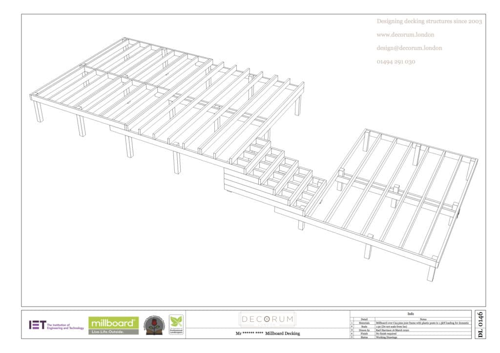 composite decking substructure