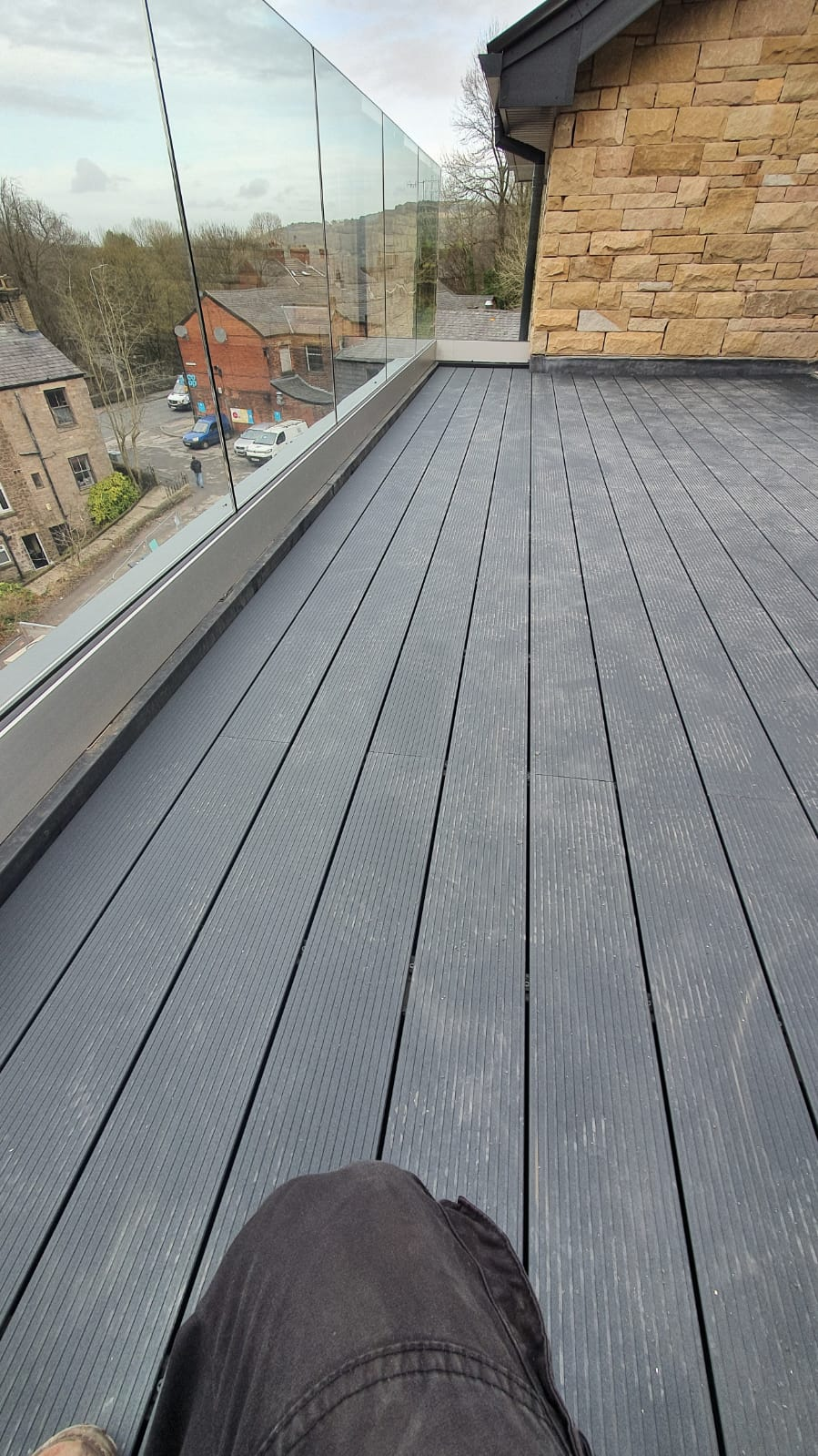 Aluminium terrace decking project