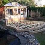 millboard golden oak decking installation