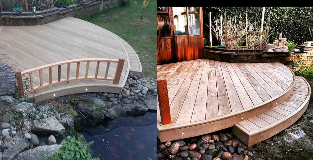 curved millboard composite decking