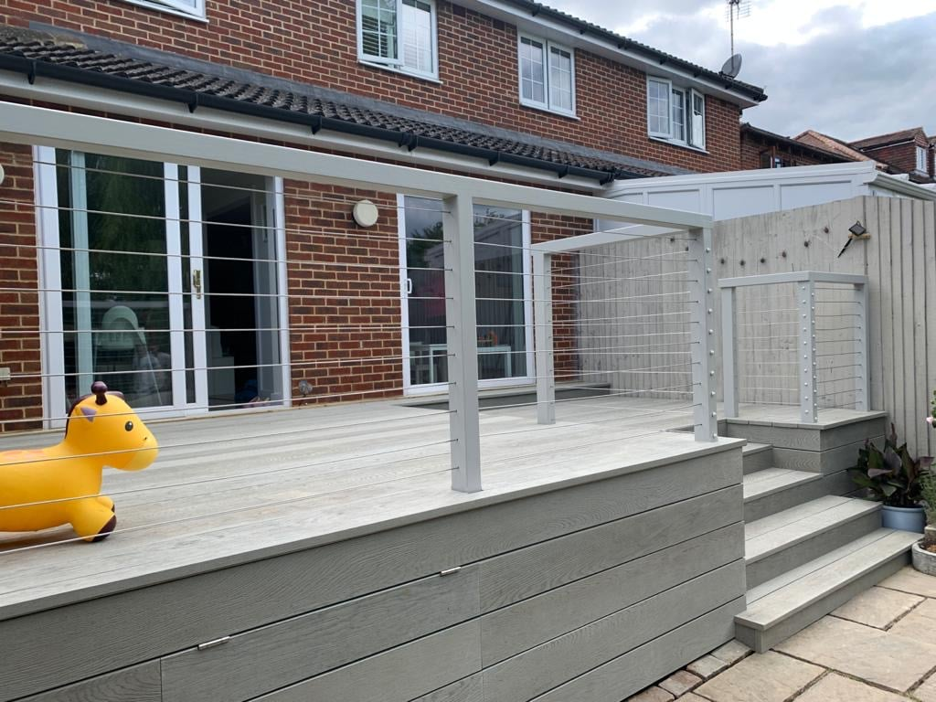 Raised Millboard Decking Installation Windsor