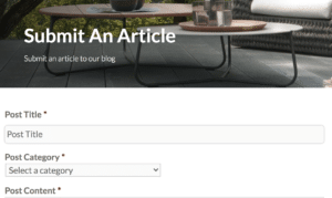 how to sumbit an article on the decking network