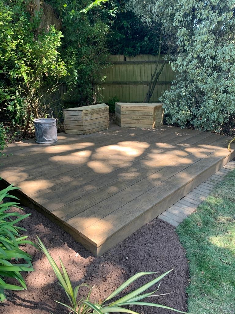 weathered millboard installation in buckinghamshire