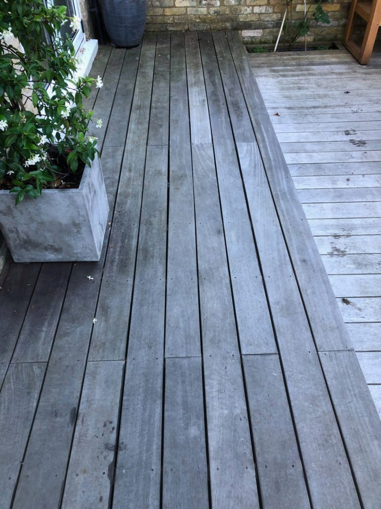 R&A Pressure Washing Services Restore Decking with Owatrol oil