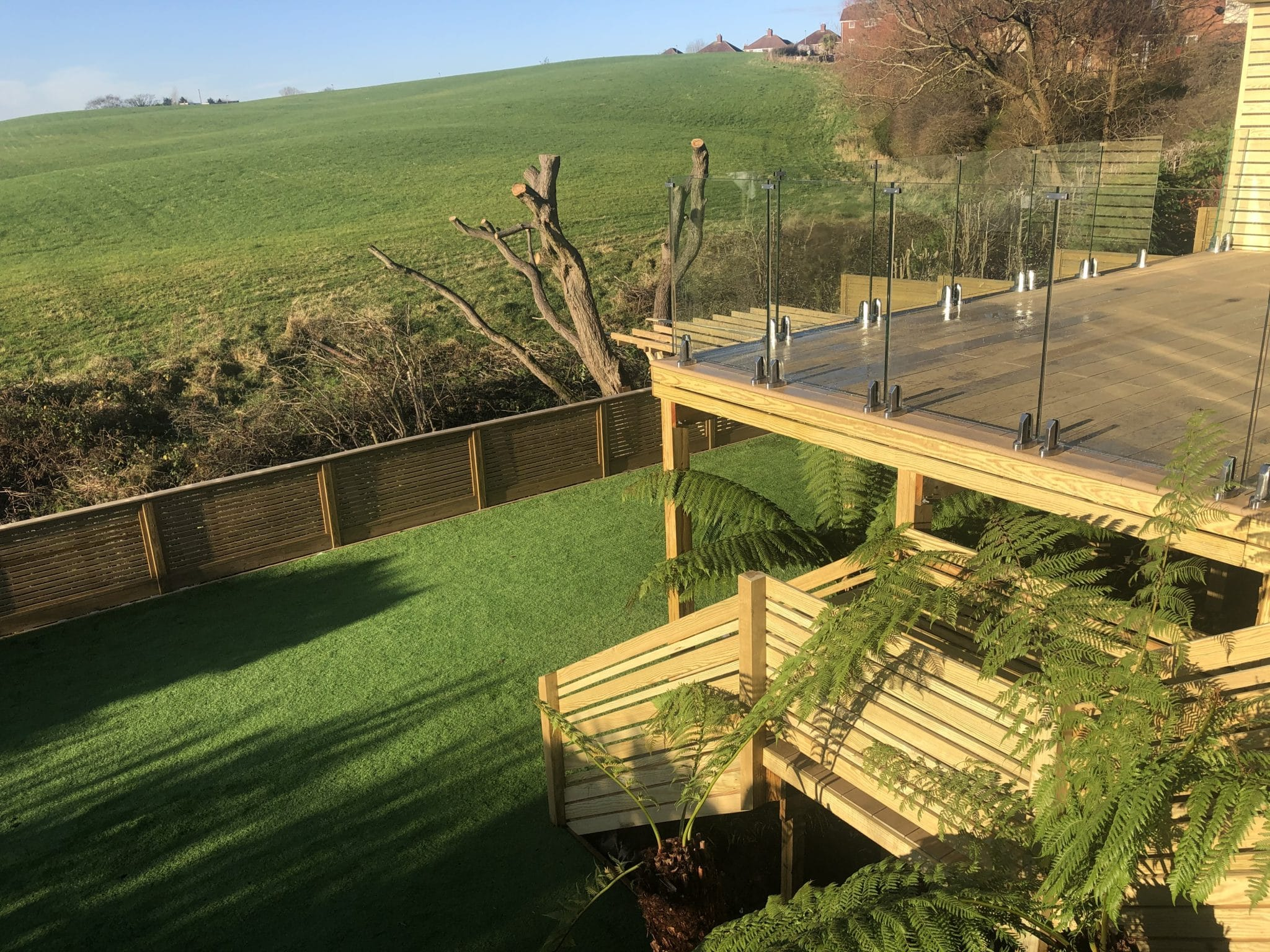 raised millboard decking lancashire