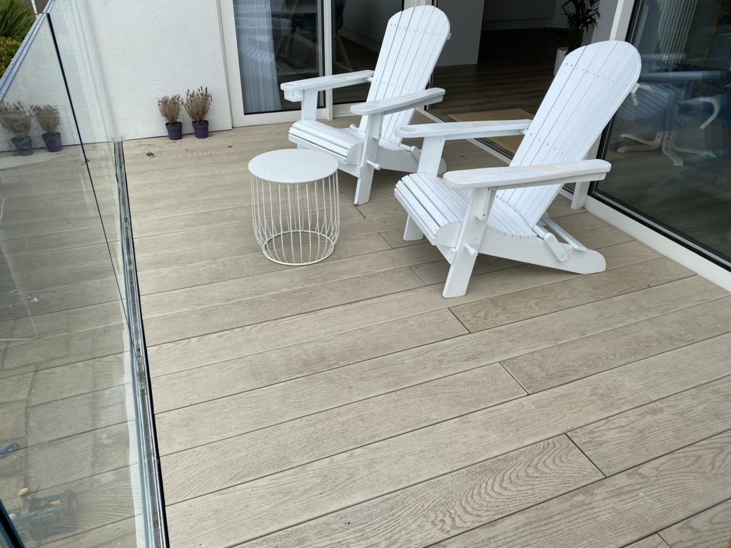 Decking balcony in Milford on Sea