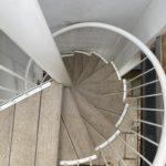 composite decking outdoor spiral staircase