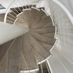 smoked oak millboard spiral staircase