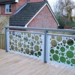 metal garden screen modern balustrade