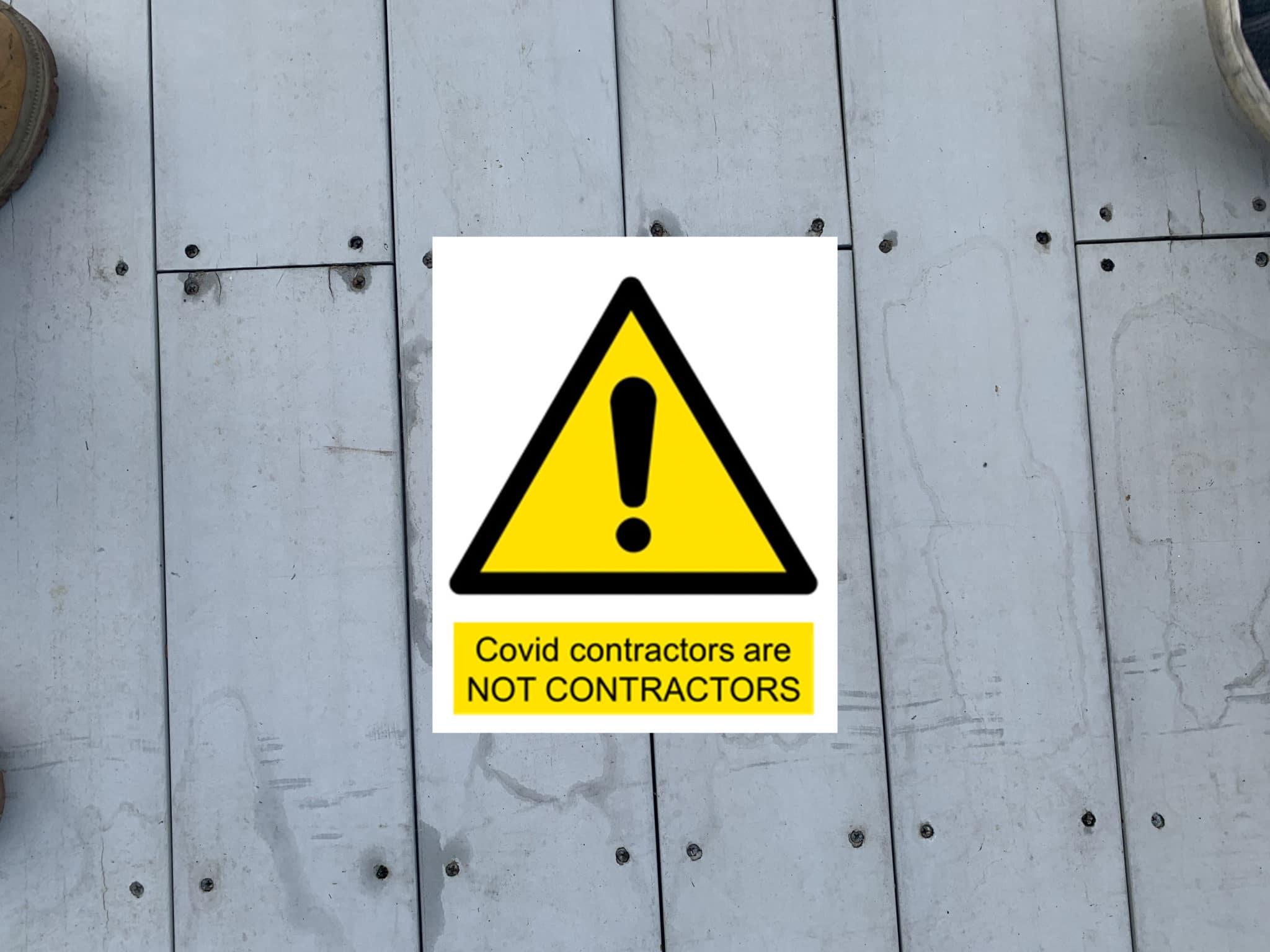 covid contractors are not contractors