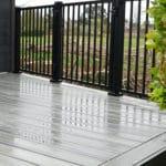 contemporary composite grey decking