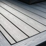 trex decking island mist and gravel path