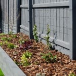 raised rail sleeper planter grey