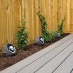 garden lighting with composite decking