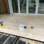 accoya decking installation progress