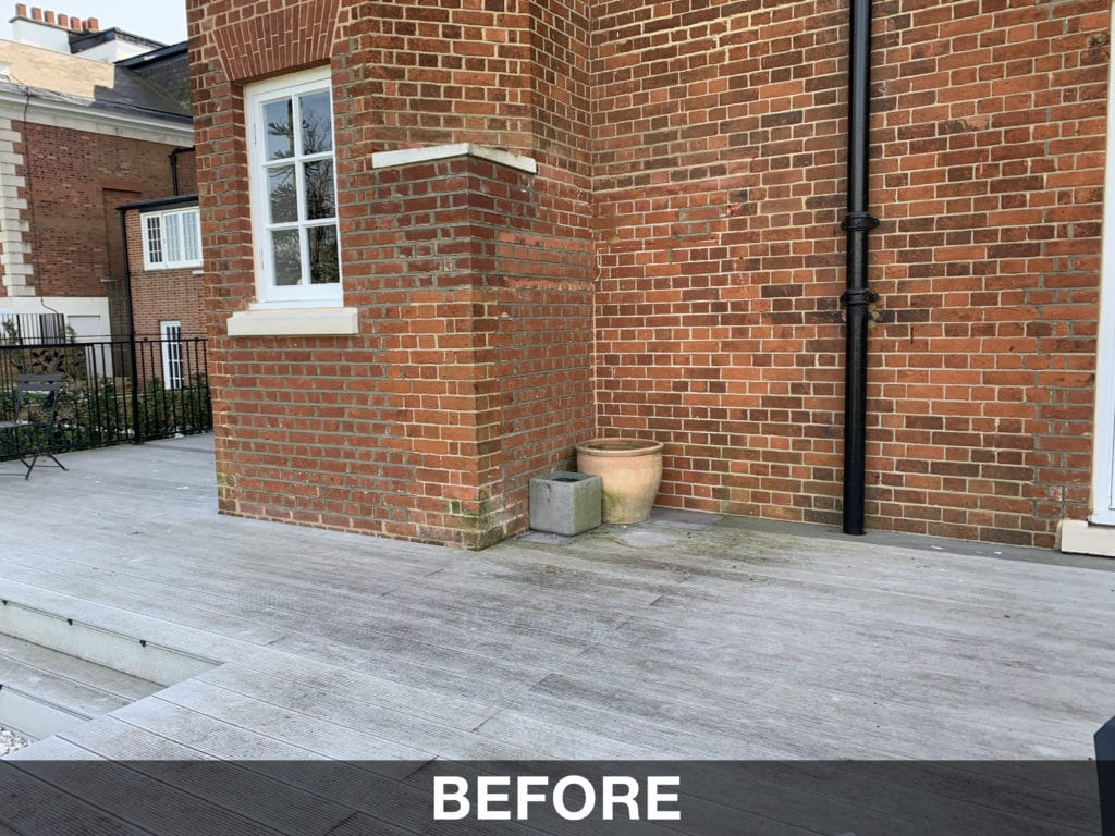 Composite decking replacement in London