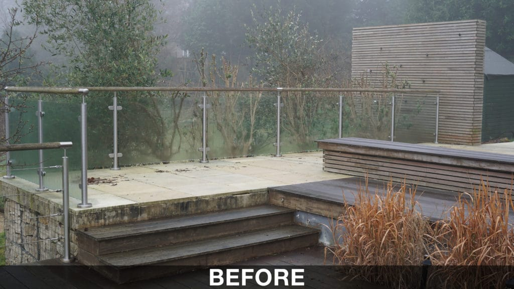 How to maintain Ipe decking before pic