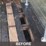 Repairing a decking disaster