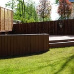Creating a curved Trex deck