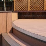 curved composite decking using trex