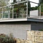 grey ipe decking terrace