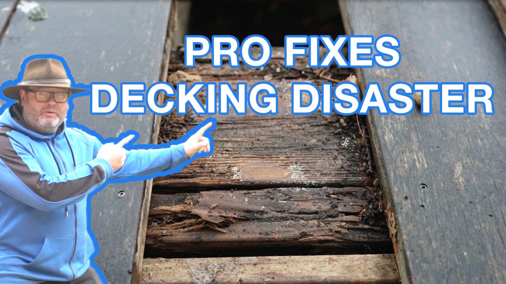 Professional fixes decking disaster