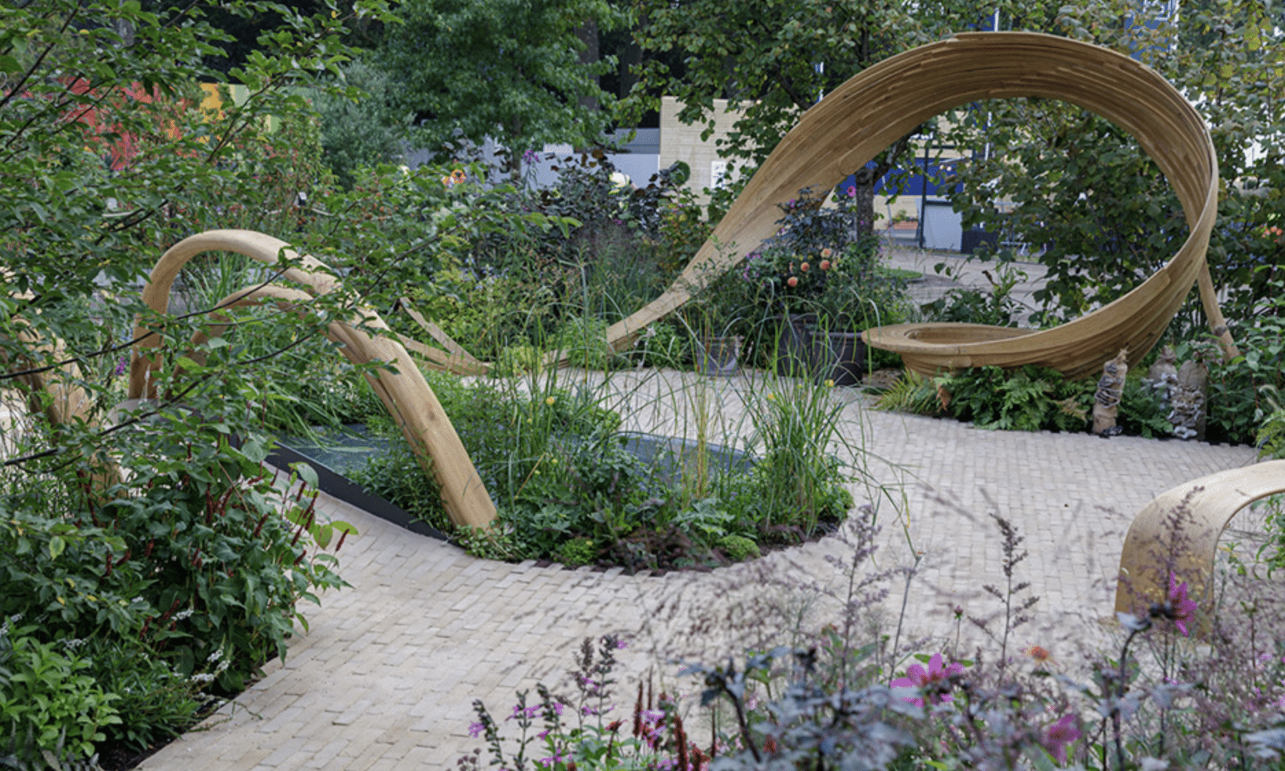 """Arit Andersons garden """"The BBC One Show and RHS Garden of Hope"""""""